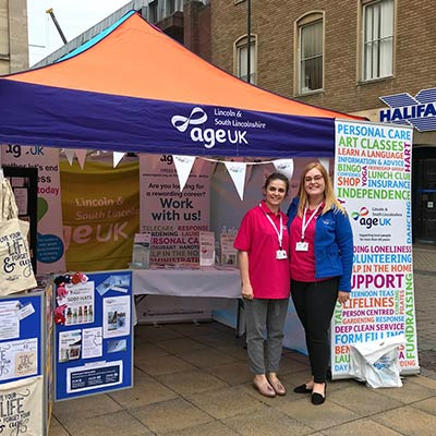 Fundraising efforts for AgeUK Lincoln and South Lincolnshire